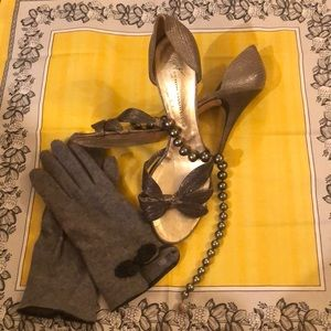 Giuseppe matte silver evening slippers : Sexy sho